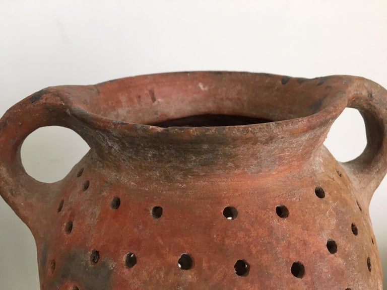 Hand-Crafted Terracotta Pot from Mexico, 1970s For Sale