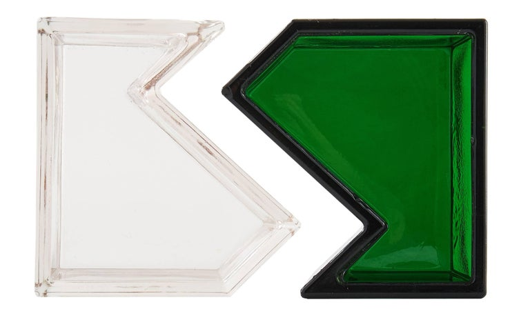 Inspired by Campbell-Rey's passion for l'art de table and a spirit of conviviality, they looked to the geometry of art deco architecture to create Alvise, an interlocking salt and pepper set crafted from Murano glass.