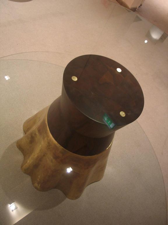 Modern 21st Century Round Cast Bronze