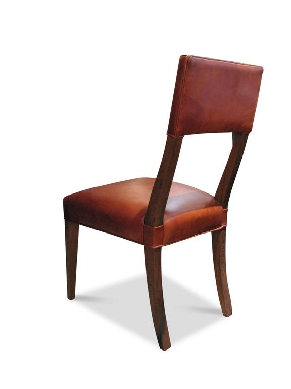 Woodwork Luca High-Back Dining Chair from Costantini in Argentine Rosewood and Leather For Sale
