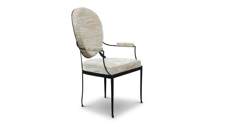 Andre Forged Iron and Upholstered Chair from Costantini, Customizable In New Condition For Sale In New York, NY