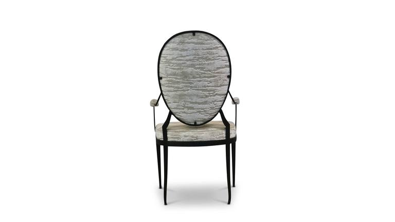 Argentine Andre Forged Iron and Upholstered Chair from Costantini, Customizable For Sale