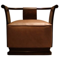 Simone Occasional Chair from Costantini in Leather and Argentine Rosewood