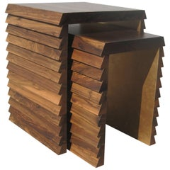 Contemporary Dorena Modern Nesting Tables in Argentine Rosewood by Costantini