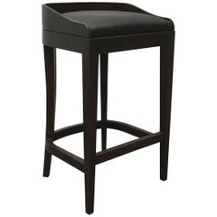 Pia Stool in Argentine Rosewood and Wrapped Leather from Costantini