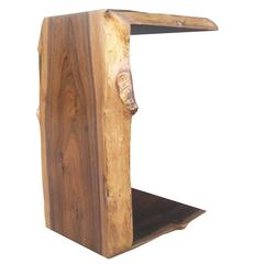Carlo Custom Live-Edge Occasional Table in Argentine Rosewood from Costantini