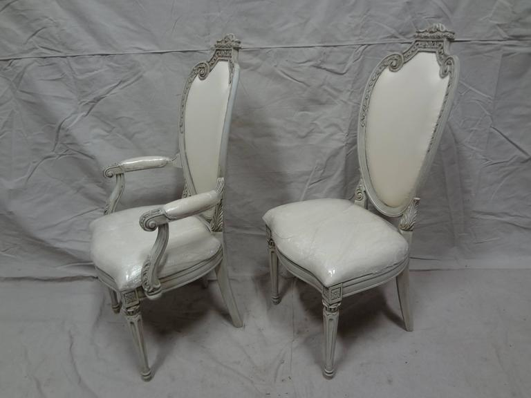 Swedish Gustavian Dining Chairs In Excellent Condition For Sale In Hollywood, FL