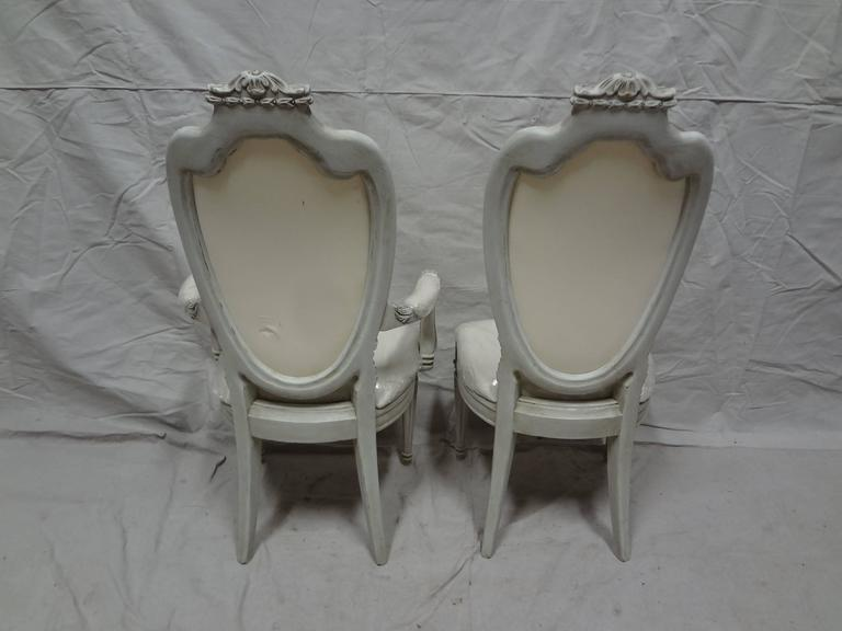 Birch Swedish Gustavian Dining Chairs For Sale