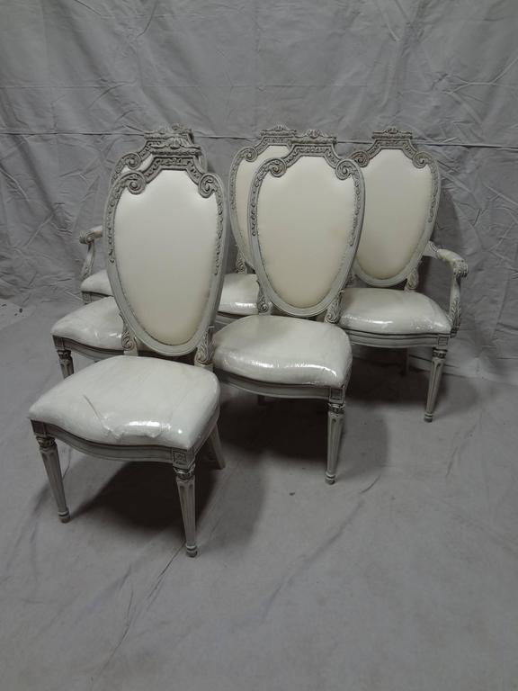 Early 20th Century Swedish Gustavian Dining Chairs For Sale