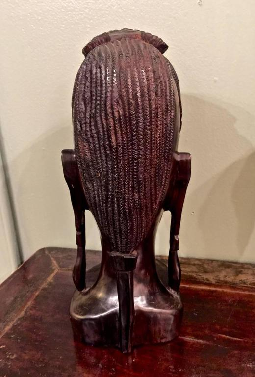 Hand-Carved 20th Century Carved African Female Bust For Sale