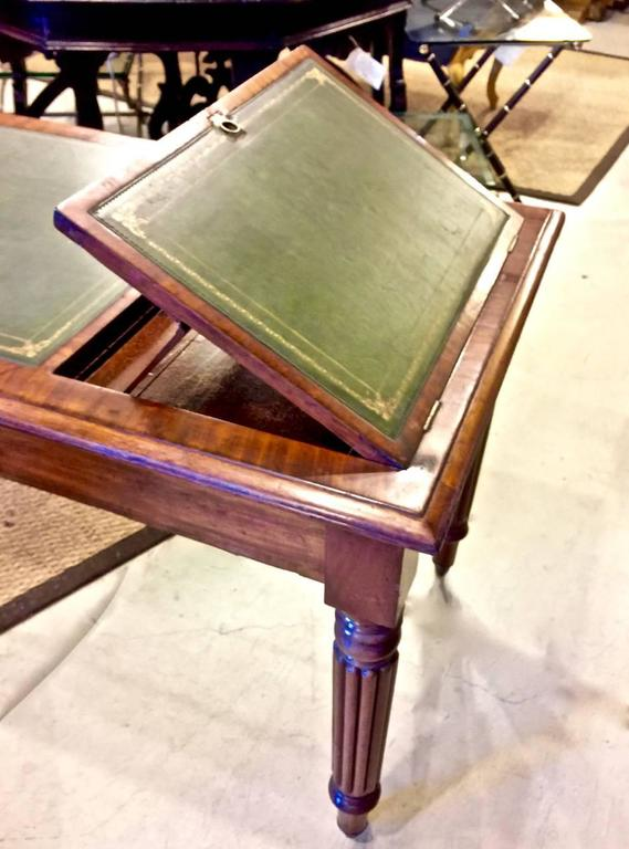 English Regency or William IV Writing Table/Desk with Book Stand For Sale