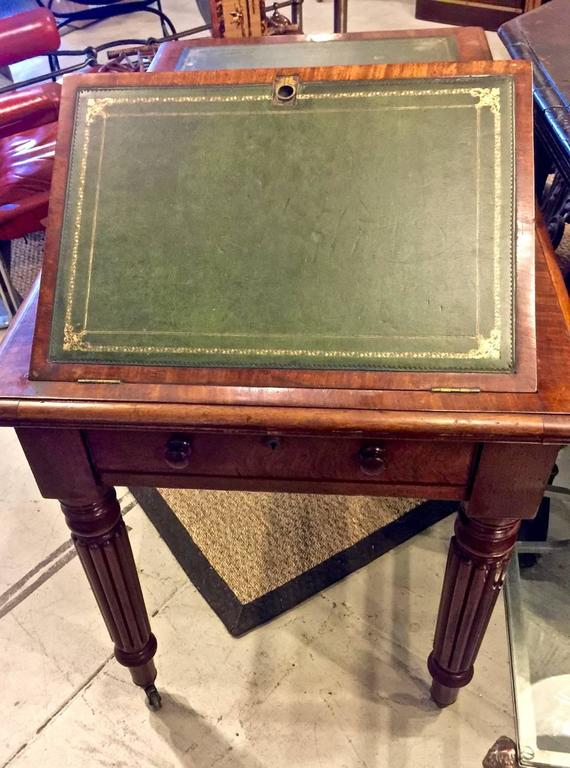 Hand-Carved Regency or William IV Writing Table/Desk with Book Stand For Sale
