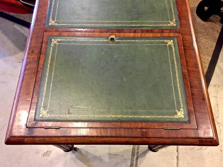 Regency or William IV Writing Table/Desk with Book Stand In Good Condition For Sale In Pasadena, CA