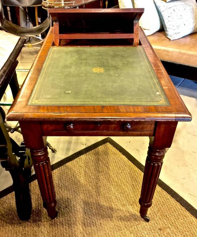 Brass Regency or William IV Writing Table/Desk with Book Stand For Sale