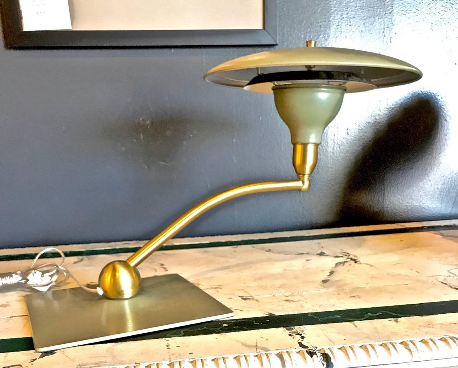 Flying saucer desk lamp by dazor circa 1960 for sale at 1stdibs arubaitofo Gallery