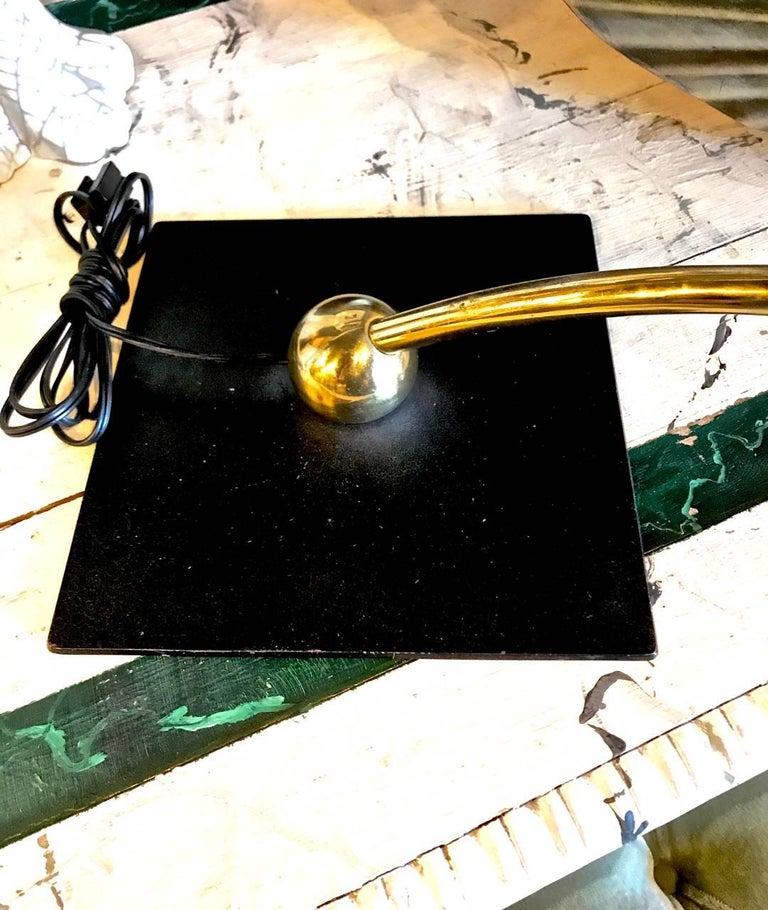 Dazor Black Flying Saucer Sight Light Desk Lamp For Sale