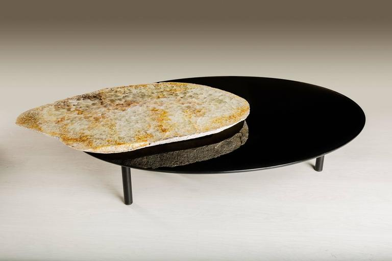 This Center Table Is Made From An Agate Slab From Brazil, It Has A  Combination