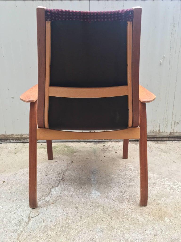 Vintage Swedish Lounge Chair Armchair in Style of Yngve Ekström Design, 1960 For Sale 2