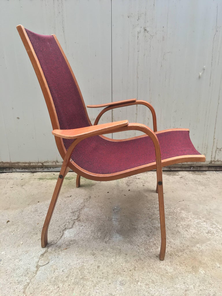 Vintage lounge chair/armchair Swedish In style of Yngve Ekström Good vintage condition Original fabric 1960 period.