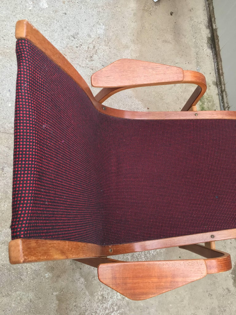Vintage Swedish Lounge Chair Armchair in Style of Yngve Ekström Design, 1960 For Sale 1