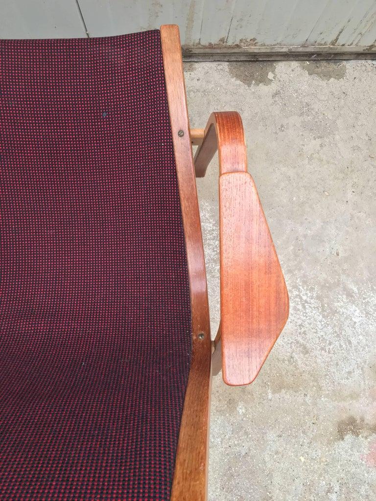 20th Century Vintage Swedish Lounge Chair Armchair in Style of Yngve Ekström Design, 1960 For Sale