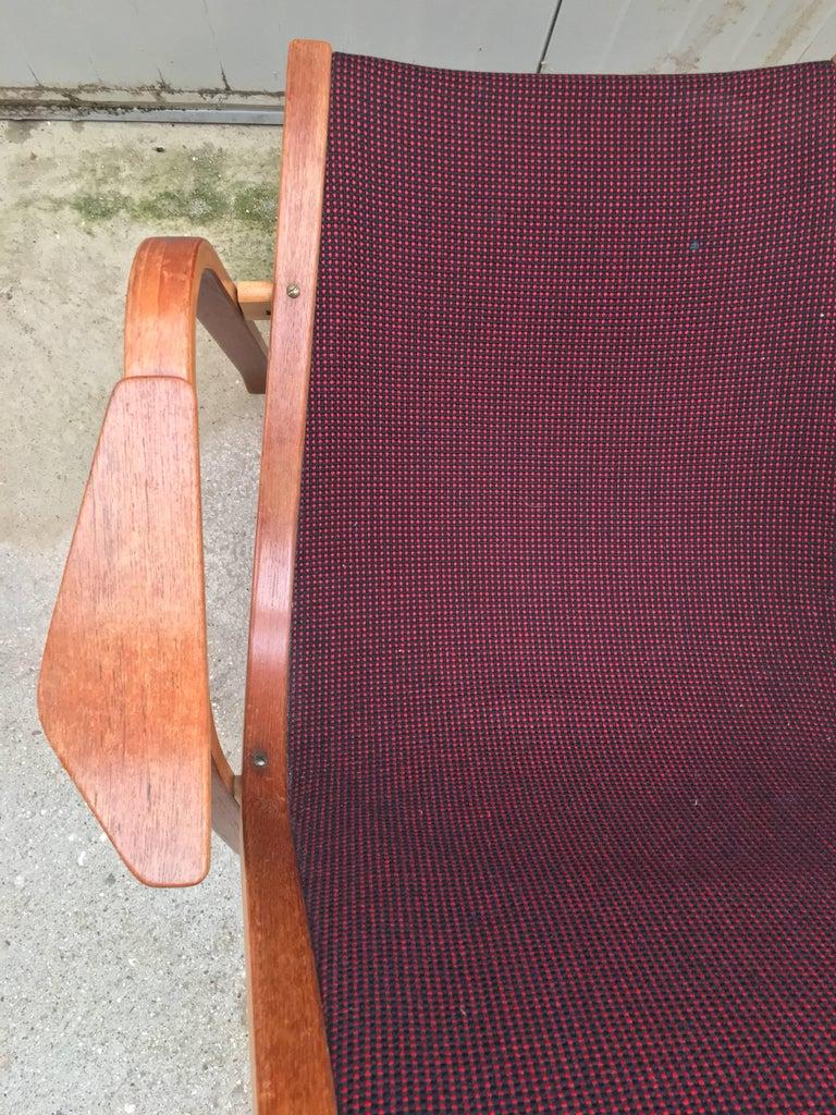 Fabric Vintage Swedish Lounge Chair Armchair in Style of Yngve Ekström Design, 1960 For Sale