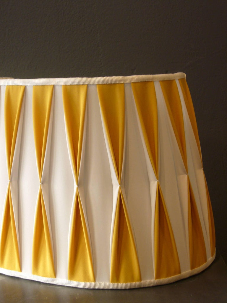 Make Wall Lamp Shades : Wall Lamp Shade Handmade Artisan Italy Customizable Yellow White For Sale at 1stdibs