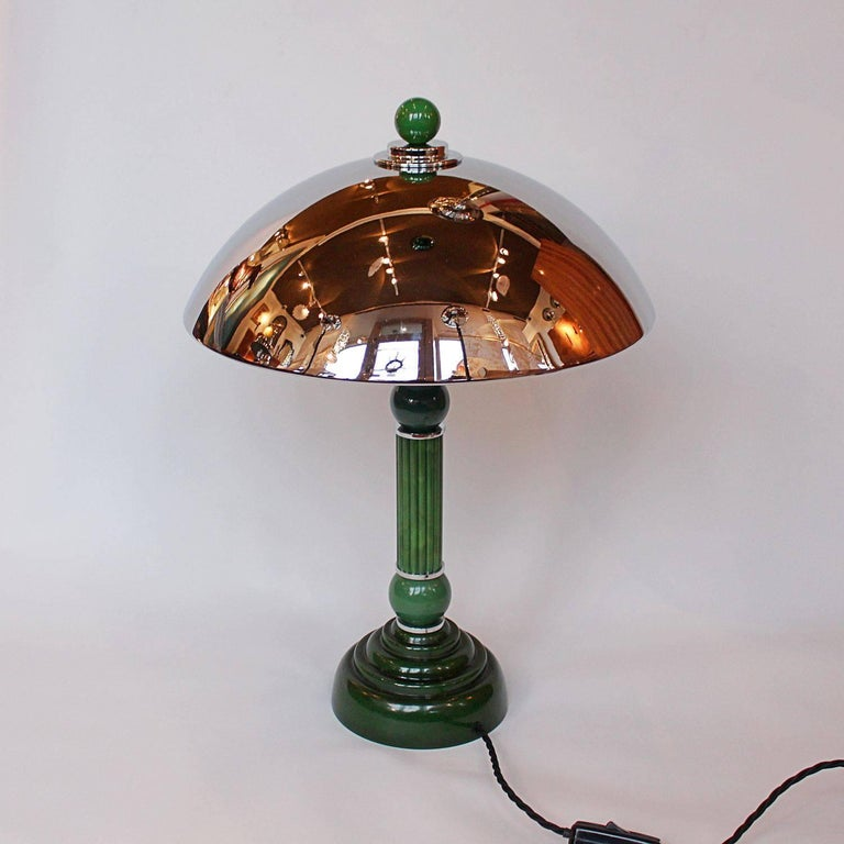 Art Deco Dome Lamp At 1stdibs