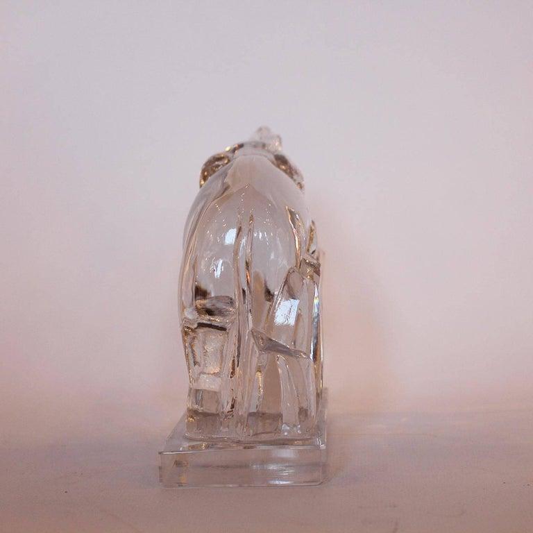 art deco baccarat crystal elephant at 1stdibs. Black Bedroom Furniture Sets. Home Design Ideas