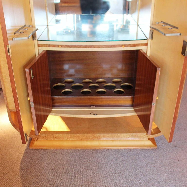 20th Century Art Deco Cocktail Cabinet For Sale