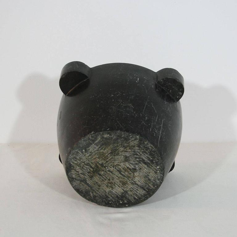 19th Century French Black Marble Mortar For Sale 1