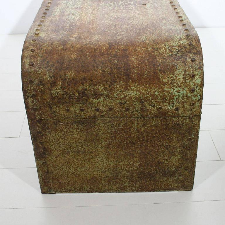 french industrial riveted steel coffee table at 1stdibs