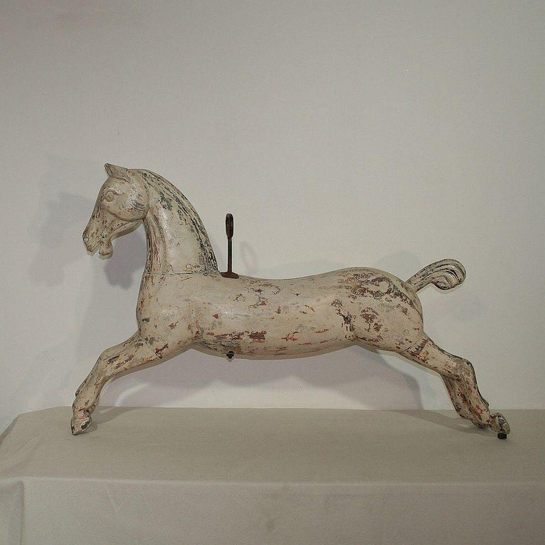 Painted Late 19th Century French Carousel Horse For Sale