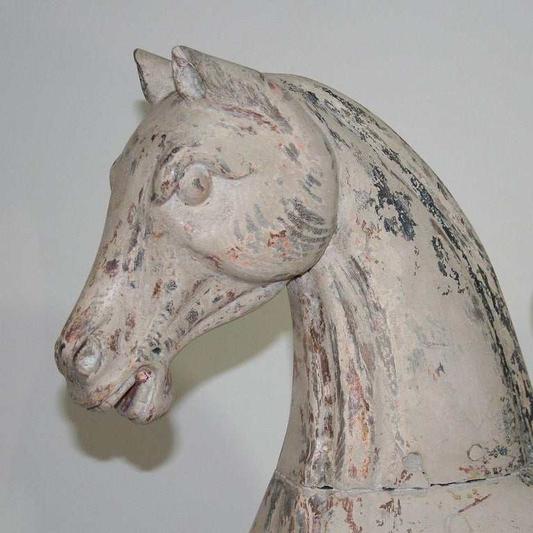 Wood Late 19th Century French Carousel Horse For Sale