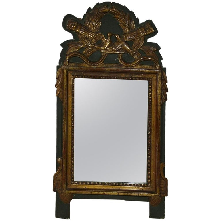 Small 19th Century, French, Louis XVI Style Bridal Mirror For Sale