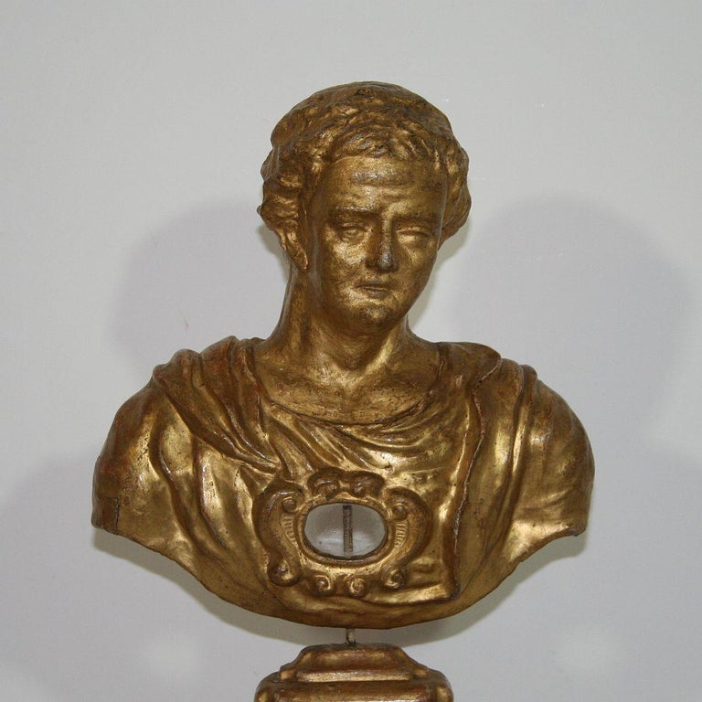 Italian 18th Century Papier Mâché Reliquary Bust For Sale 3