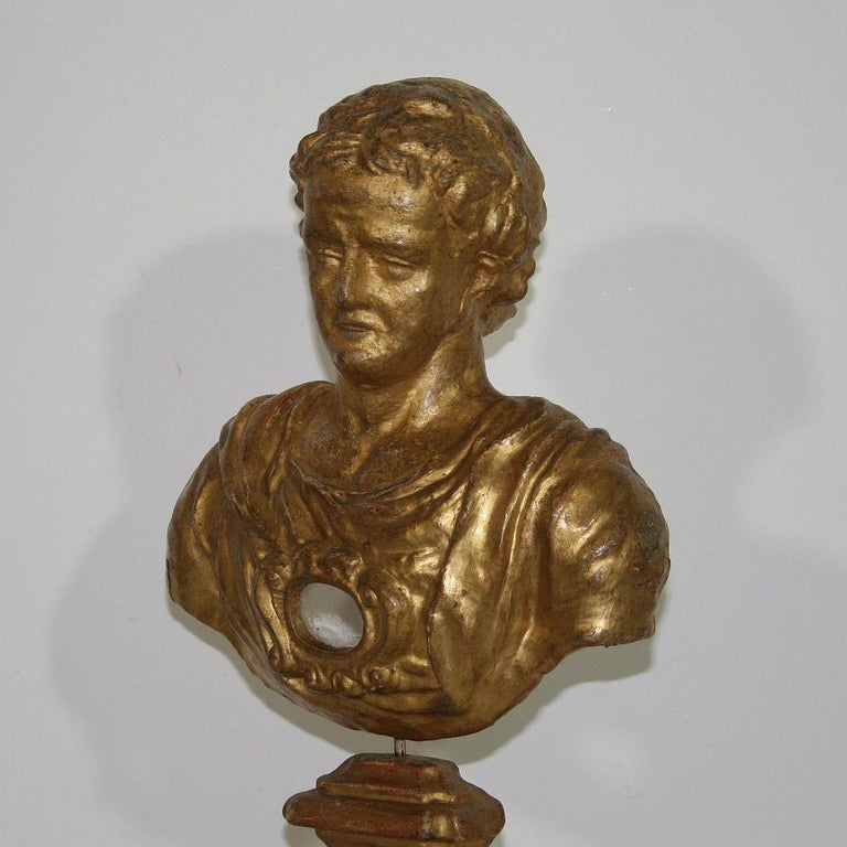 Italian 18th Century Papier Mâché Reliquary Bust For Sale 4