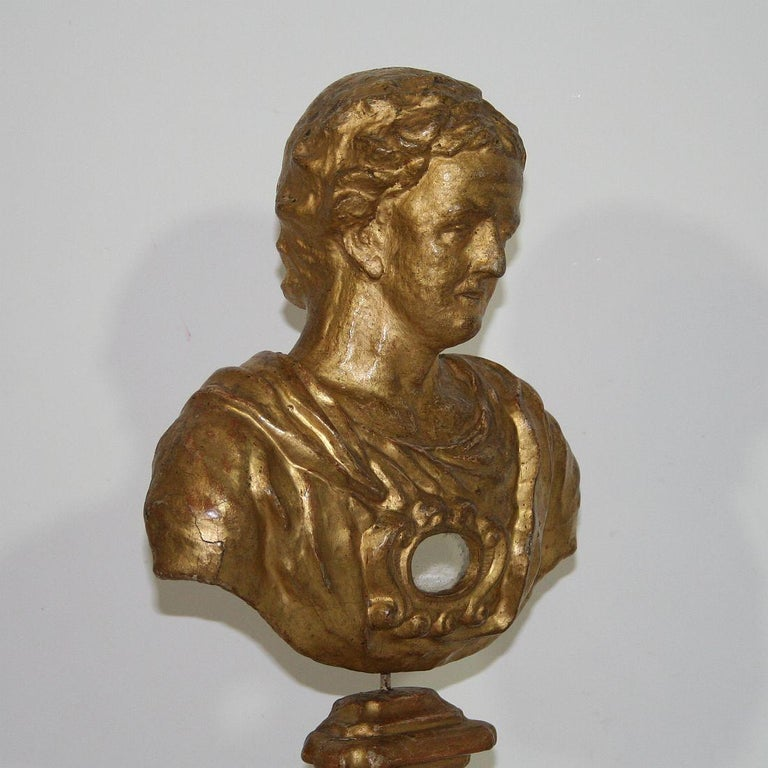 Italian 18th Century Papier Mâché Reliquary Bust For Sale 5