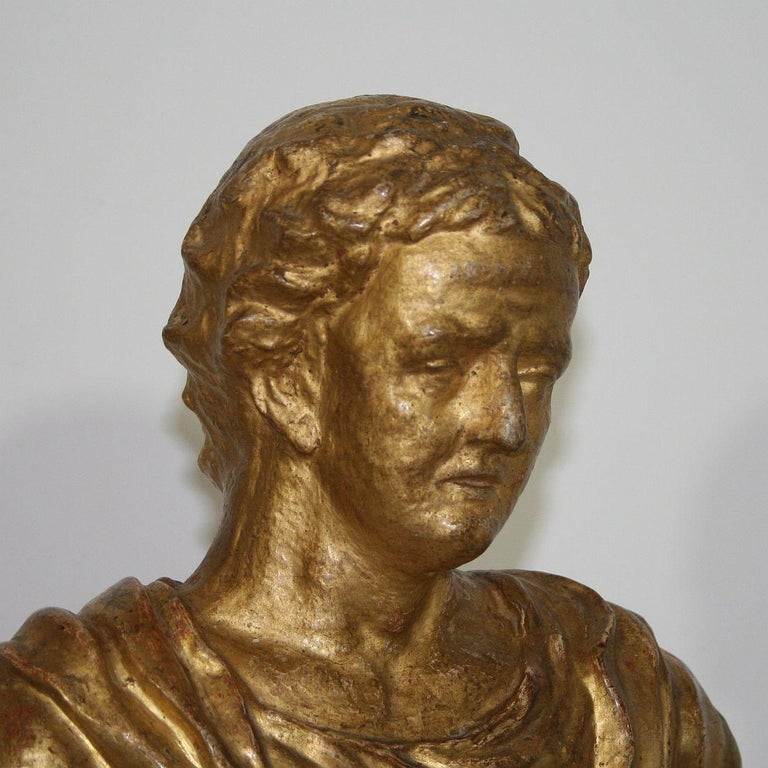 Italian 18th Century Papier Mâché Reliquary Bust For Sale 11