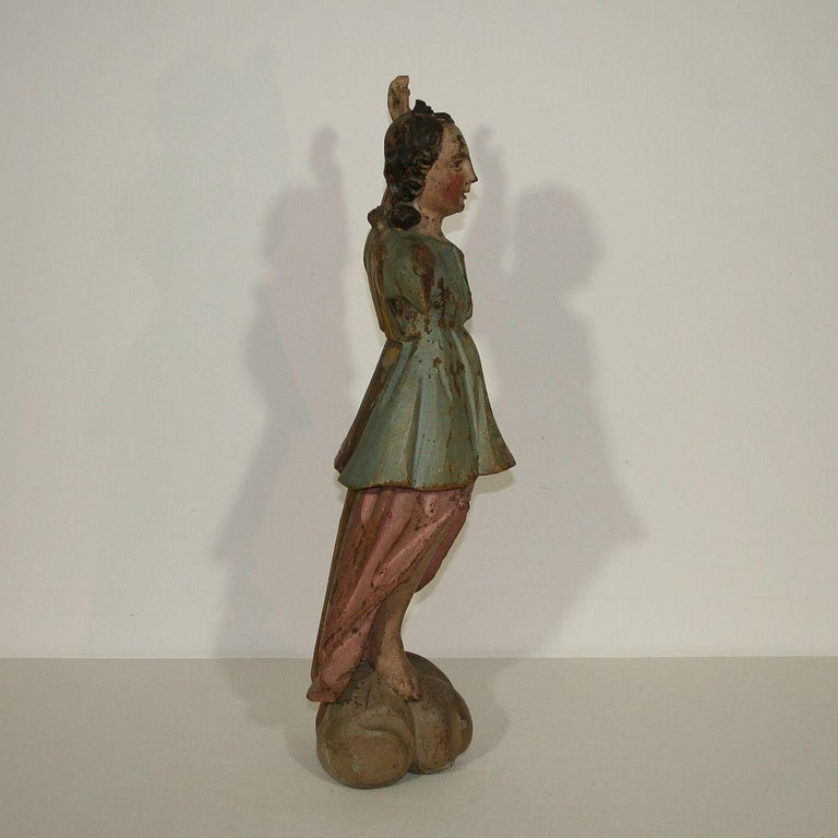 18th Century, Italian Baroque Angel Figure In Good Condition For Sale In Amsterdam, NL