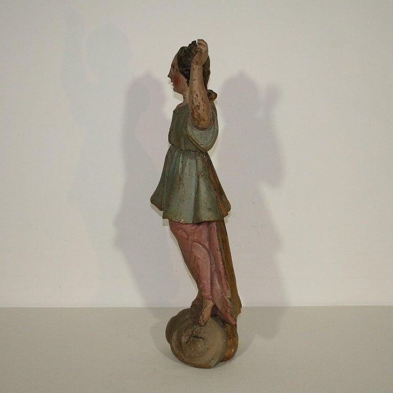 Wood 18th Century, Italian Baroque Angel Figure For Sale