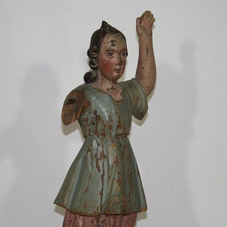 18th Century, Italian Baroque Angel Figure For Sale 3