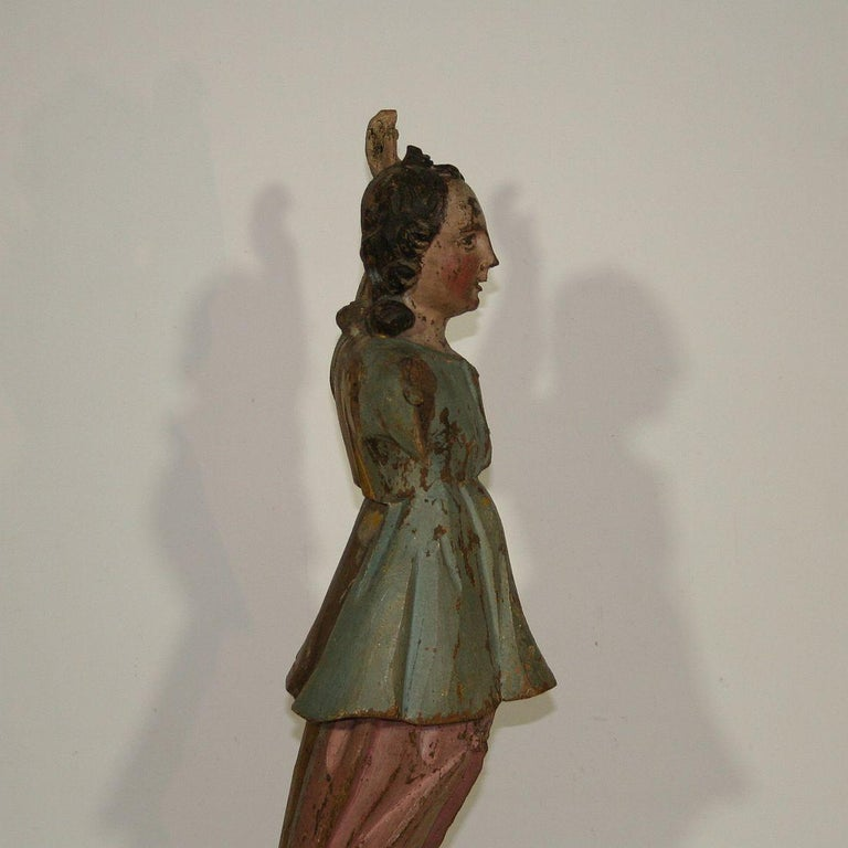 18th Century, Italian Baroque Angel Figure For Sale 4