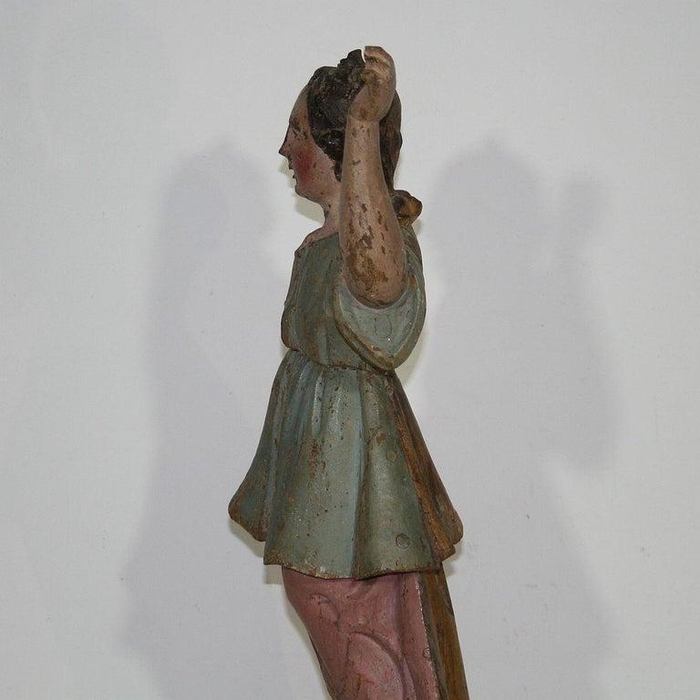 18th Century, Italian Baroque Angel Figure For Sale 6