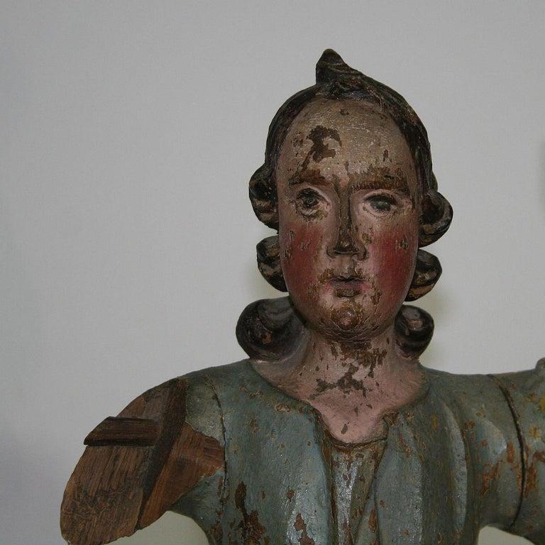 18th Century, Italian Baroque Angel Figure For Sale 10