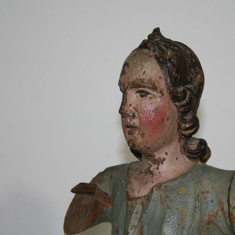 18th Century, Italian Baroque Angel Figure For Sale 11