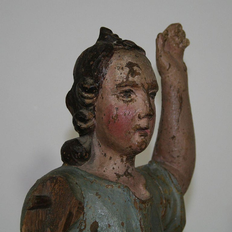 18th Century, Italian Baroque Angel Figure For Sale 12