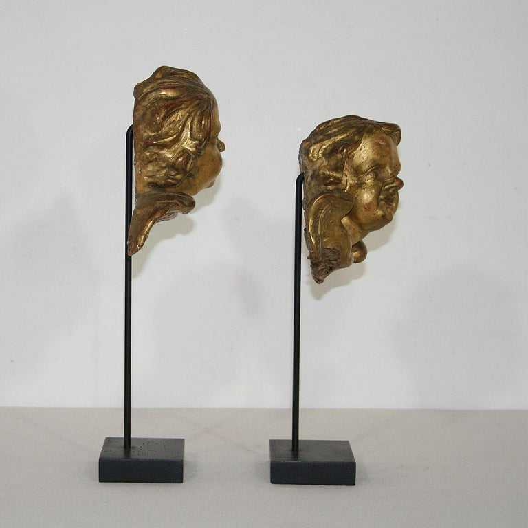 Italian 18th Century Baroque Gilded Angel Heads In Good Condition For Sale In Amsterdam, NL