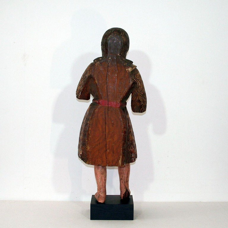 18th Century and Earlier Spanish 18th Century Baroque Christ Figure For Sale