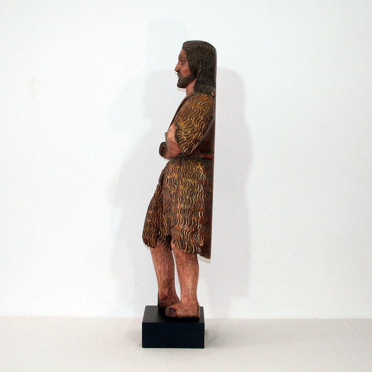 Wood Spanish 18th Century Baroque Christ Figure For Sale